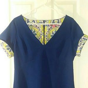 Betsey Johnson Dress w/ contrasting cuffs Size 12